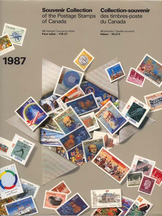1987 Annual Collection The Postage Stamps of Canada VF-NH