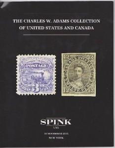 Spink:  The Charles Adams Collection of U.S. and Canada Stamp Auction Catalogue