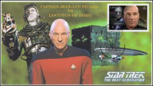 CA17-006, 2017, Star Trek, FDC, Captain Picard, Borg, The Next Generation