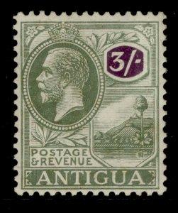 ANTIGUA GV SG79, 3s black and violet, M MINT. Cat £50.