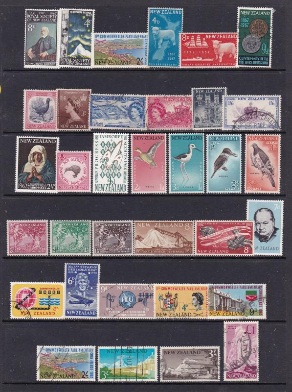 New Zealand a small lot of used & some mint early QEII