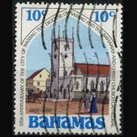 BAHAMAS 1986 - Scott# 619 Church 10c Used