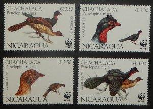 Nicaragua 2067. 1994 Wild Fowl, singles, NH
