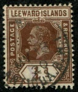 Leeward Islands SC# 46 / SC#46 George V, 1/4d, wmk 3 Used SCV $ 1.10