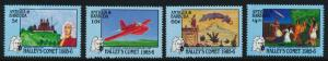 Antigua 920-3 MNH Halley's Comet, Aircraft, Space, Art