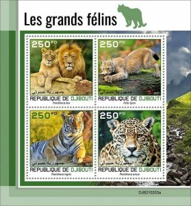 2021/05- DJIBOUTI - BIG CATS           4V complet set    MNH ** T