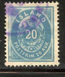 Iceland # 17, Used. CV $ 50.00