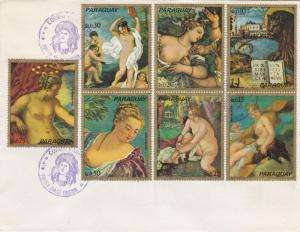 Paraguay, Nude Paintings, 1st Day Cover