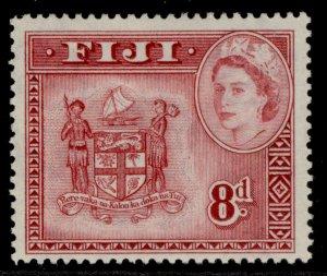 FIJI QEII SG288, 8d deep carmine-red, M MINT.