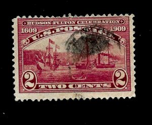 US Sc 372 2¢ Half Moon & Claremont  - Used - Crisp Color
