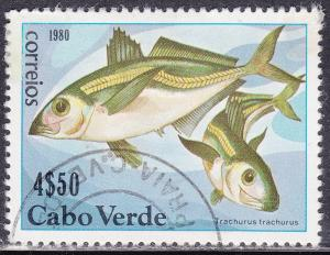 Cape Verde 411 Used 1980 Trachurus Trachurus Fish