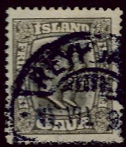 Used Iceland 1915 #103 F-VF SCV$160...Bold Reykjavik cancel!!