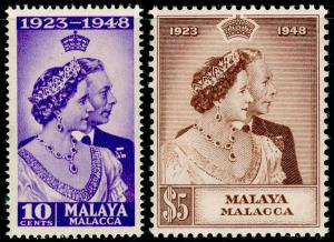 MALAYSIA - Malacca SG1-2, COMPLETE SET, NH MINT. Cat £35. RSW.