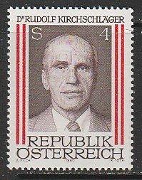 1980 Austria - Sc 1146 - MNH VF - 1 single - Rudolph Kirchschlager