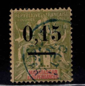 Madagascar Scott 55 Used surcharged stamp