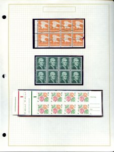 Lot of 25 Album Pages Loaded with Booklets, Blocks & Single Stamps #141581 X