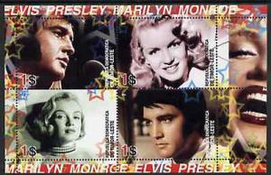 Timor 2004 Elvis Presley & Marilyn Monroe #01 perf sh...