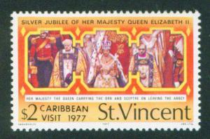 St Vincent Scott 508 1977 QE2 visit MNH**