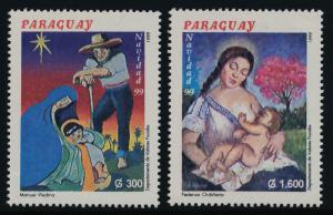 Paraguay 2626-7 MNH Christmas, Art