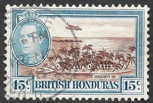 British Honduras Scott #121 15c Sergeants Cay (1938) Used