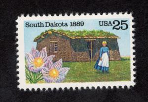 2416 South Dakota Statehood US Single Mint/nh Free Shipping