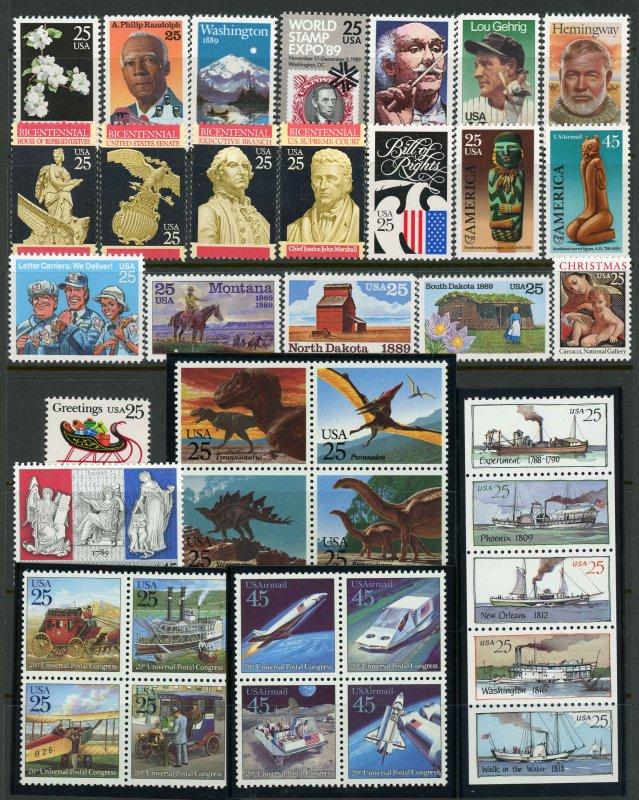 USA 1989 Commemorative Year Set Mint (NH) #2347,2401-18,2420-28,2434,2437,C120-5