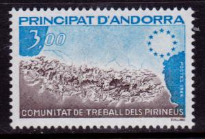 French Andorra 322 MNH - Pyrenees Work Community (1984)