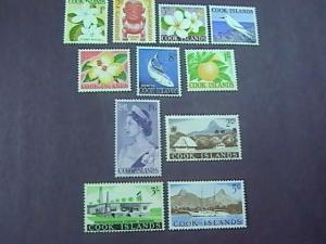 COOK ISLANDS # 148-158-MINT/NEVER HINGED---COMPLETE SET---QEII---FLOWERS---1963