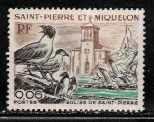 ST PIERRE & MIQUELON Scott # 436 MH - Church & Seagulls