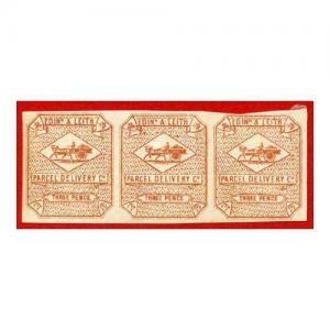 SGCD19 Edinburgh and Leith 3d Brown Red Mint Strip 3