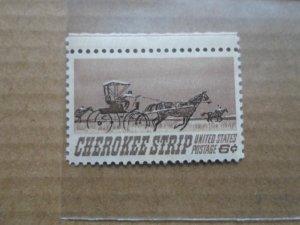 6 CENT STAMP CHEROKEE STRIP SC# 1360