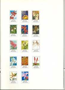 Grenada (Grenadines) #1256-1269 Orchids 14v Imperf Proofs Mounted in Folder