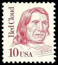 PCBstamps    US #2175a 10c Red Cloud, overall tagged, MNH, (5)