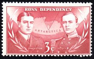 Ross Dependency # L6 mnh ~ 3¢ Shackleton and Scott