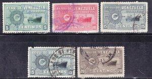 VENEZUELA SC# 413+415-17 **USED** 1948-50      SEE SCAN