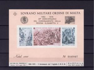 Malta 1978 QUEEN ELIZABETH CORONATION s/s Perforated Numbered Mint (NH
