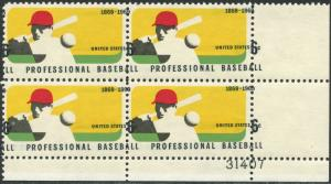 #1381 VAR. BASEBALL PLATE BLK/4 W/ MAJOR COLOR SHIFT ERROR - UNIQUE BP3787