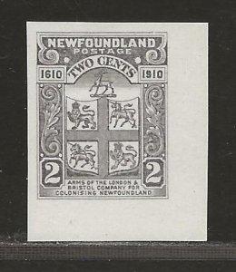 NEWFOUNDLAND  SC# 88TC  TRADE SAMPLE PROOF IN GRAY VIOLET  VFMNH