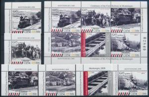 Montenegro stamp Centenary of Railway in Montenegro MNH 2008 Mi 186-191 WS237152