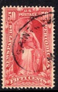 #PR119  50c Newspaper Stamp - USED and NICEg  cv$75.00