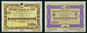 HERRICKSTAMP NEW ISSUES FRENCH POLYNESIA Sc.# 1111-12 Vintage Actions Stamps