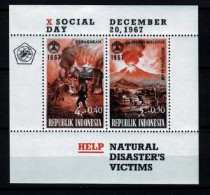 Z514 Jlstamps 1968 indonesia s/s mh #b213a volcano