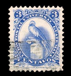 GUATEMALA STAMP 1957. SCOTT # 369. USED. # 4