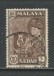 Malaya-Kedah   #88  Used  (1957)  c.v. $0.50