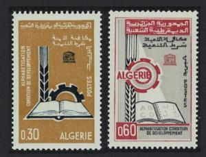 Algeria Literacy Campaign 2v SG#459-460