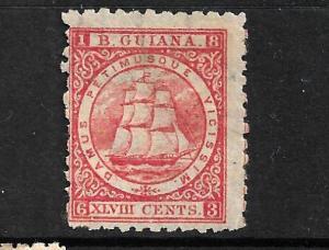 BRITISH GUIANA 1866-71  48c    SHIP  MNG  P10   SG 105