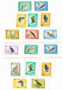 YAR  YEMEN - Scott 209A // 209K - VFMNH perf and imperf lot -  BIRDS - 1965