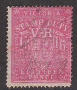 Australia Victoria Sc#AR14 Fiscal Used Perf 13x12
