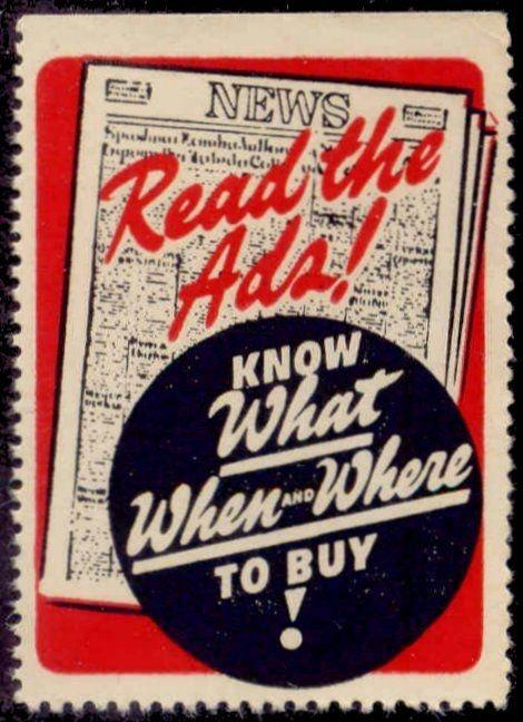 Newspaper Ads Advertising Poster Stamp
