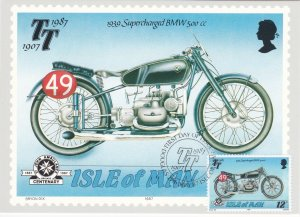 Isle of Man # 335-339, Tourist Trophy Motorcycle Races, Maxi Cards, First Day